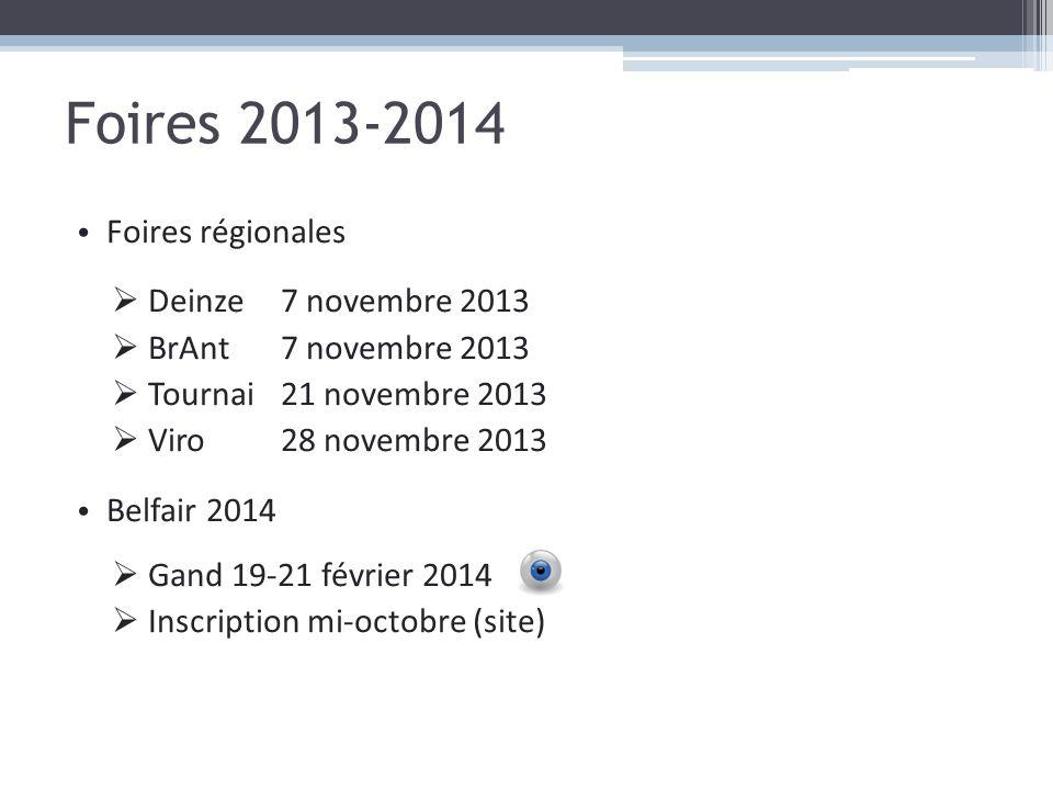 Foires 2013-2014 Foires régionales Deinze 7 novembre 2013