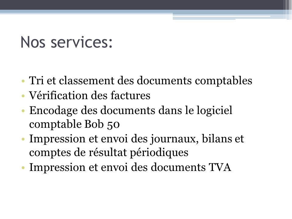 Nos services: Tri et classement des documents comptables
