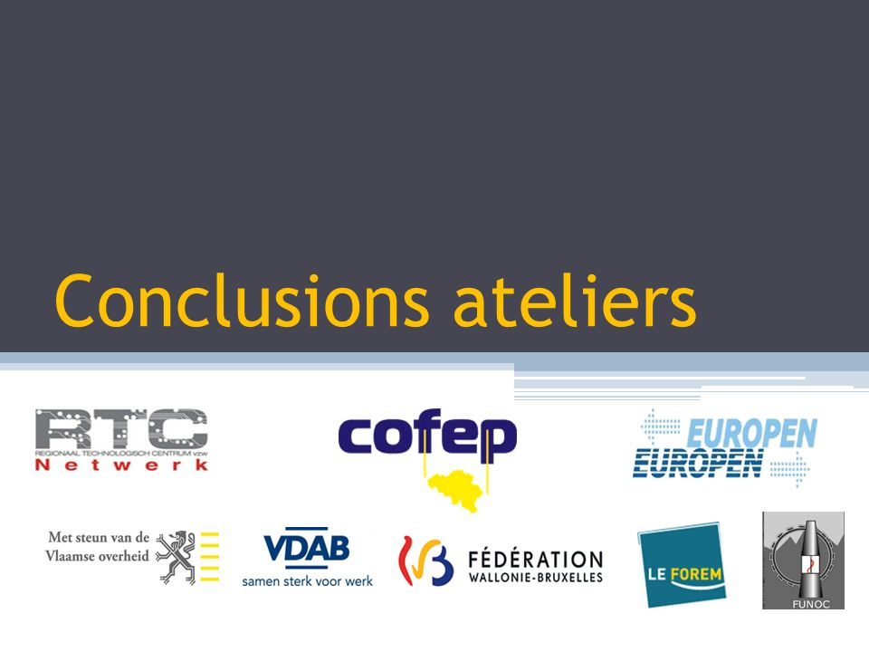 Conclusions ateliers