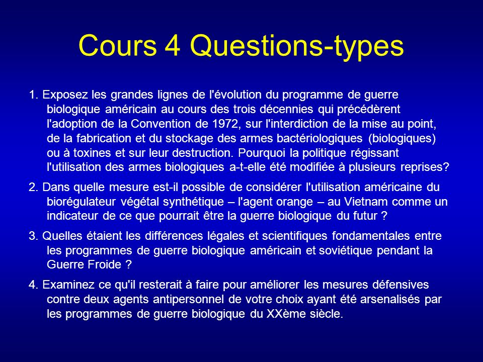 Cours 4 Questions-types