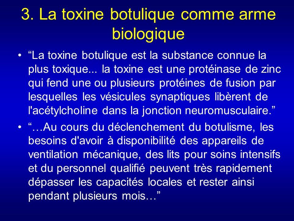 3. La toxine botulique comme arme biologique