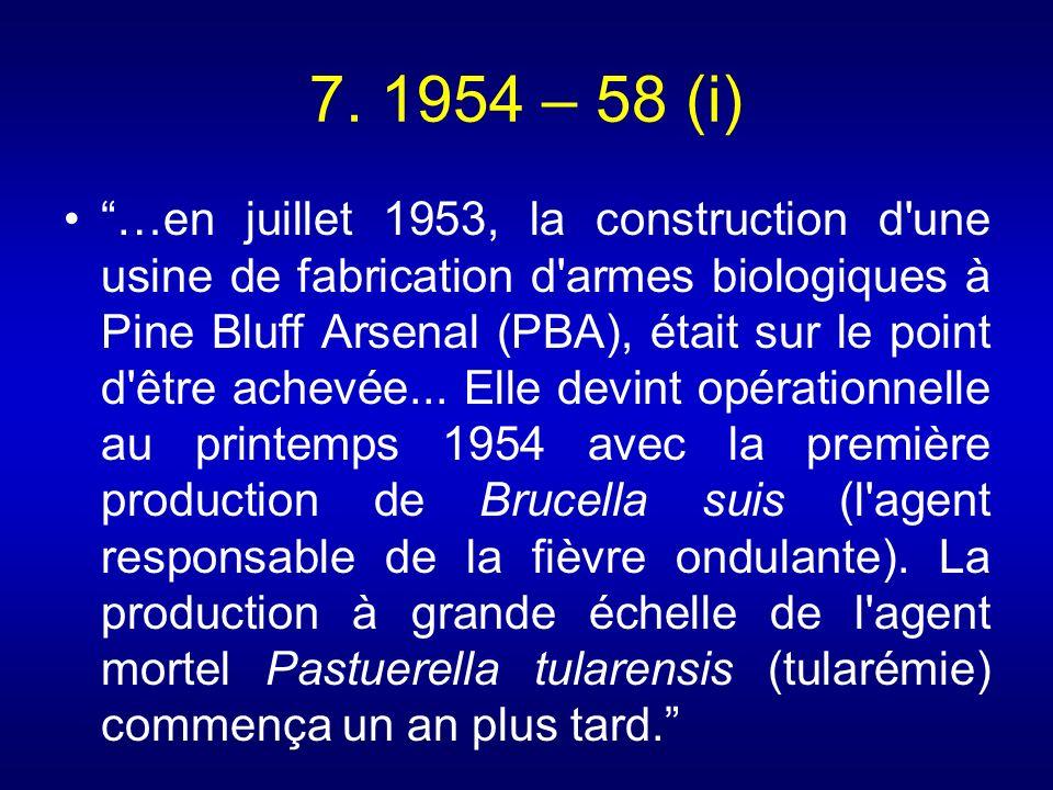 7. 1954 – 58 (i)