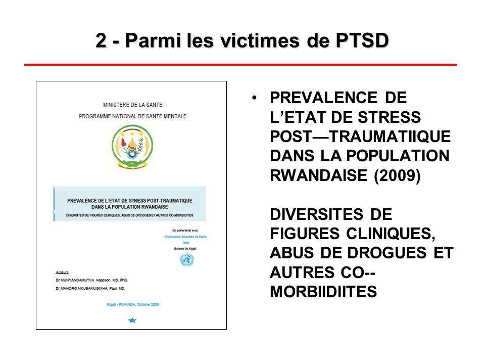 2 - Parmi les victimes de PTSD