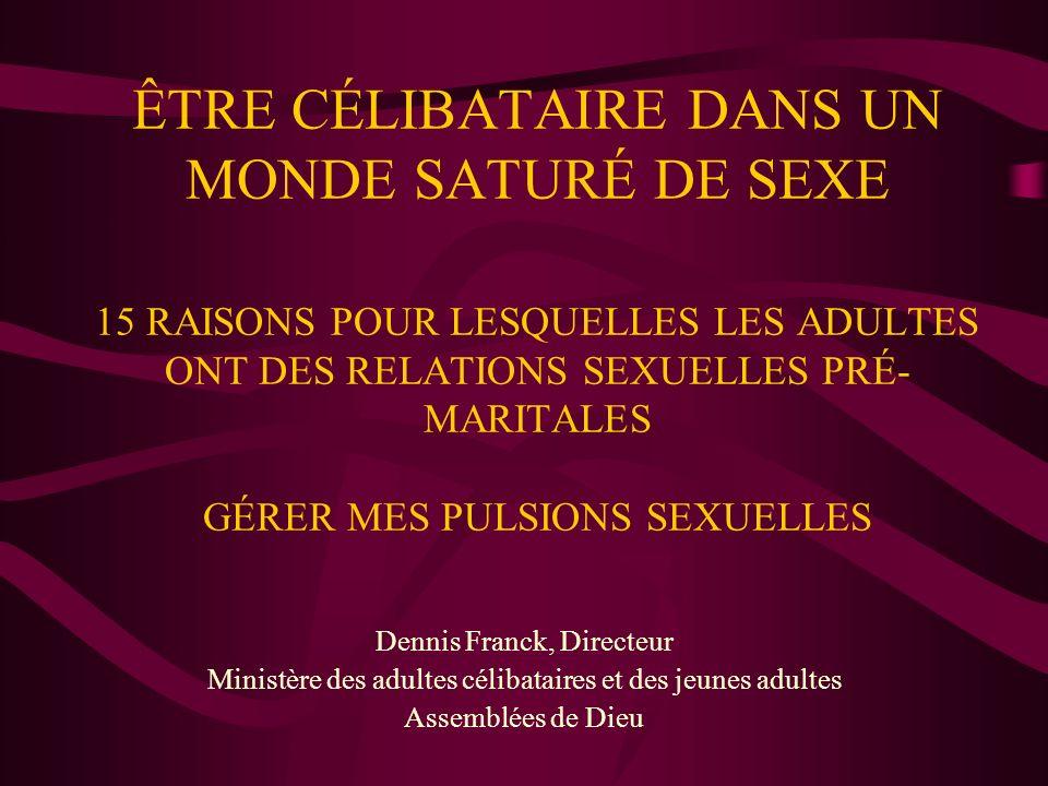ÊTRE CÉLIBATAIRE DANS UN MONDE SATURÉ DE SEXE 15 RAISONS POUR LESQUELLES LES ADULTES ONT DES RELATIONS SEXUELLES PRÉ-MARITALES GÉRER MES PULSIONS SEXUELLES