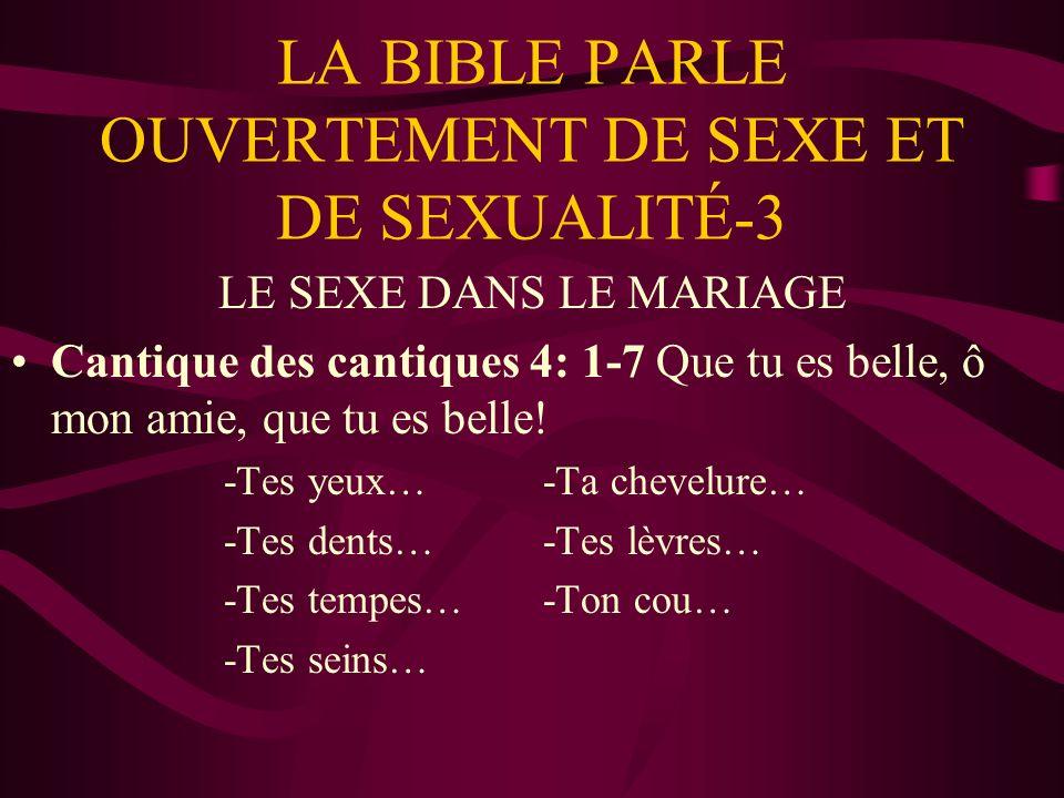 LA BIBLE PARLE OUVERTEMENT DE SEXE ET DE SEXUALITÉ-3