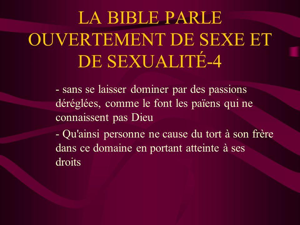 LA BIBLE PARLE OUVERTEMENT DE SEXE ET DE SEXUALITÉ-4