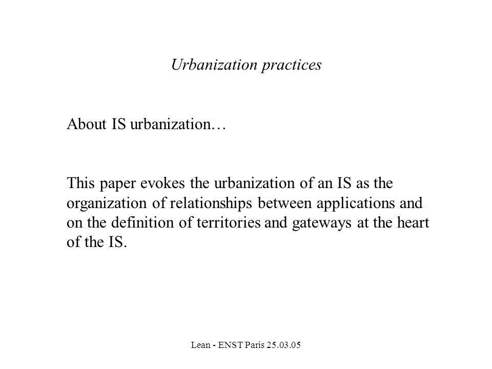 Urbanization practices
