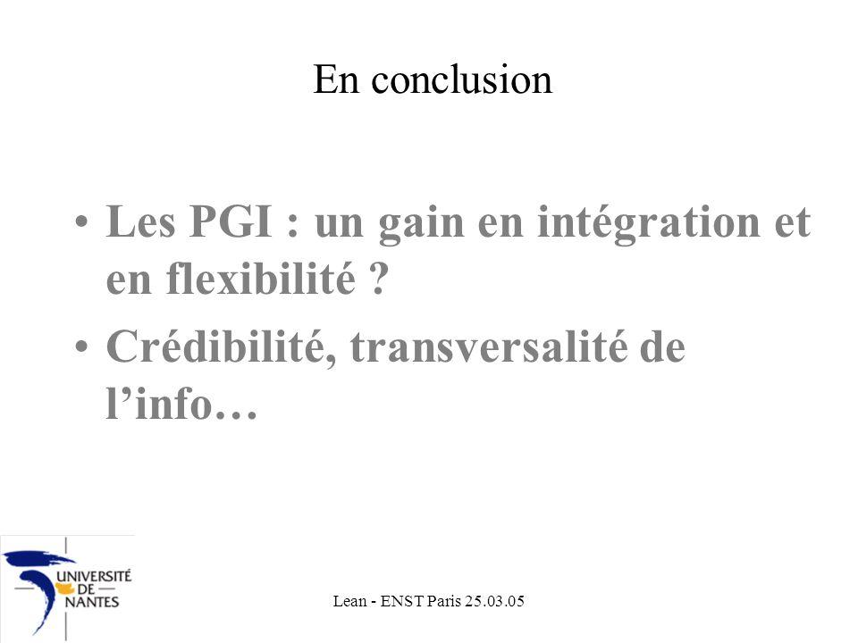 Les PGI : un gain en intégration et en flexibilité