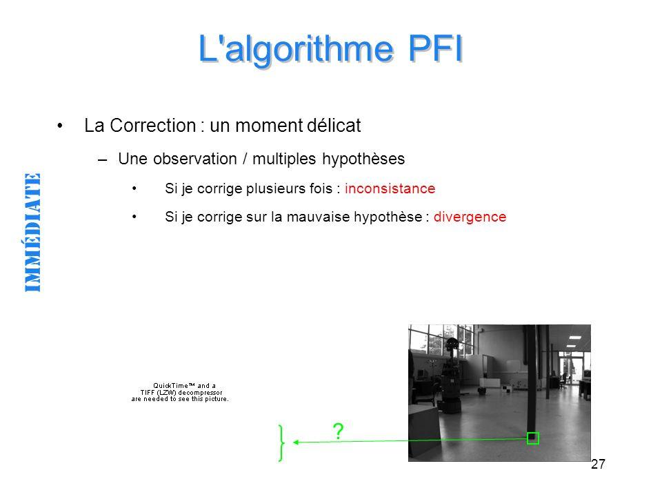 L algorithme PFI immédiate La Correction : un moment délicat