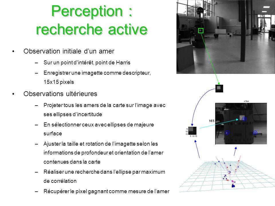 Perception : recherche active