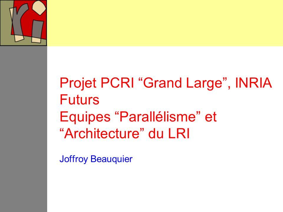 Projet PCRI Grand Large , INRIA Futurs Equipes Parallélisme et Architecture du LRI Joffroy Beauquier