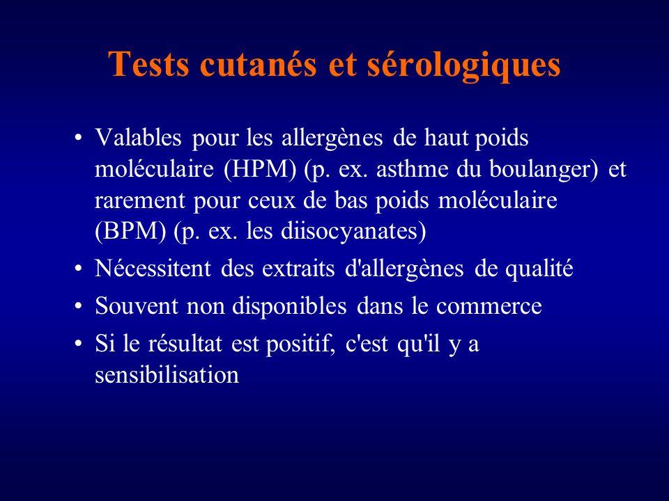 Tests cutanés et sérologiques