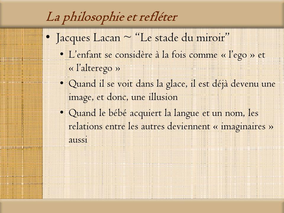 La philosophie et refléter