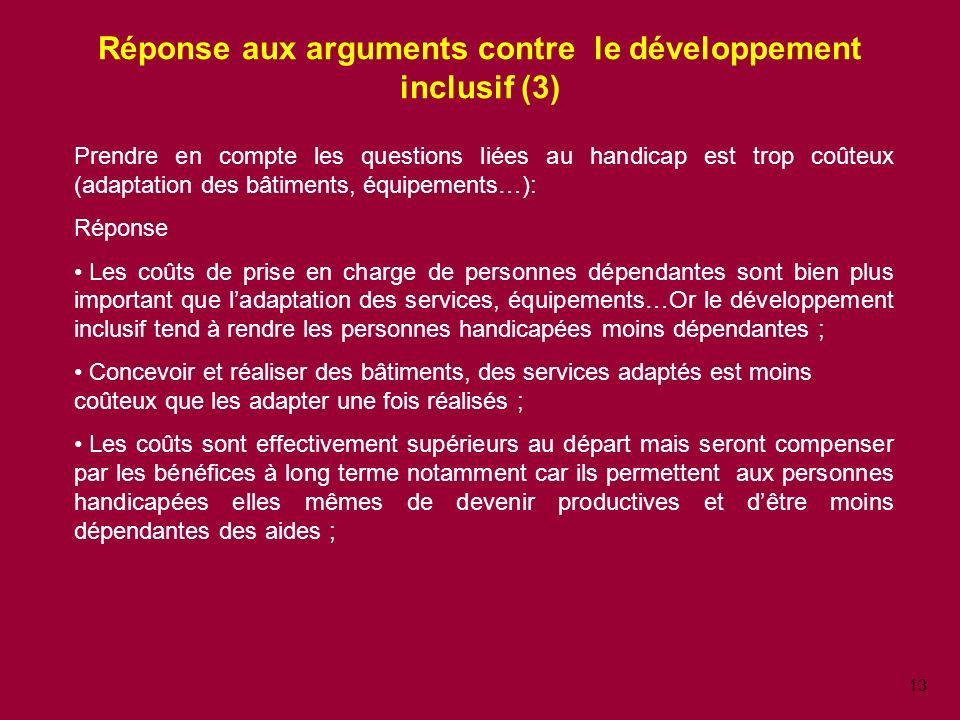 Réponse aux arguments contre le développement inclusif (3)