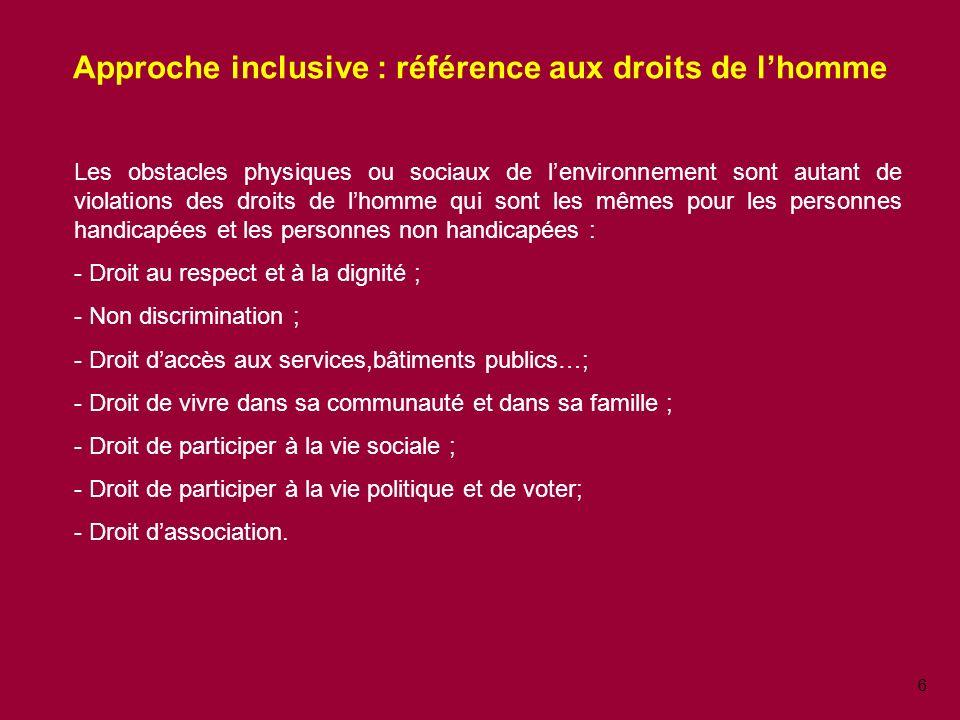 Approche inclusive : référence aux droits de l'homme