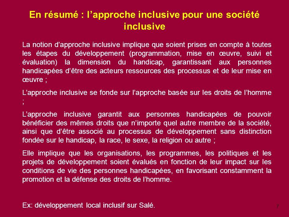 En résumé : l'approche inclusive pour une société inclusive