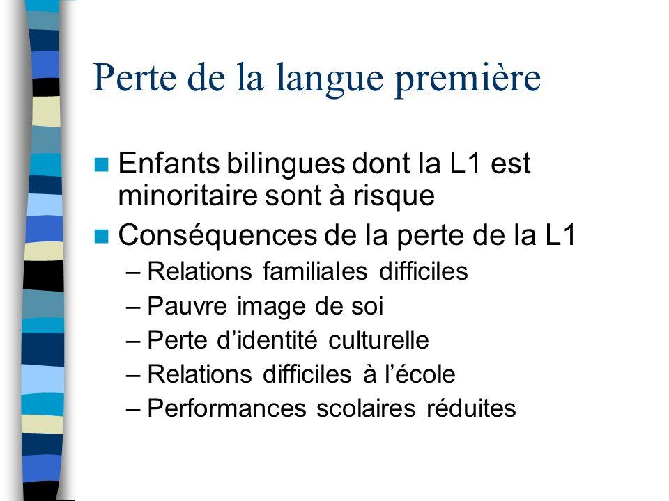 Perte de la langue première