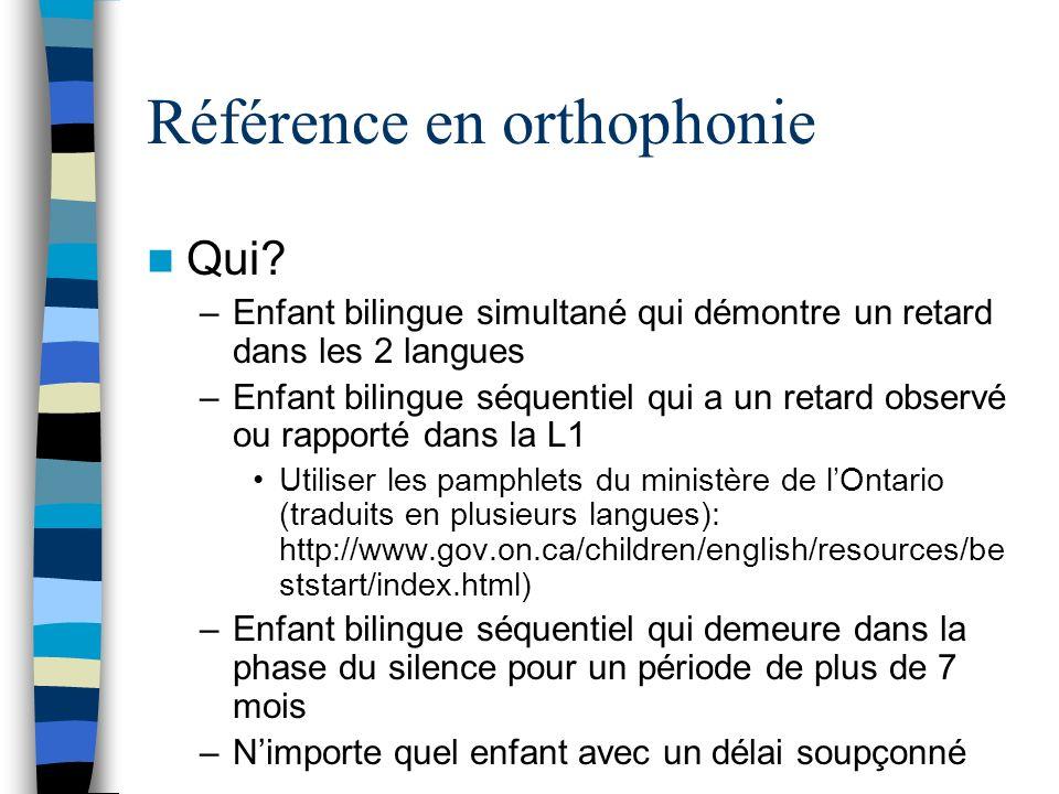 Référence en orthophonie