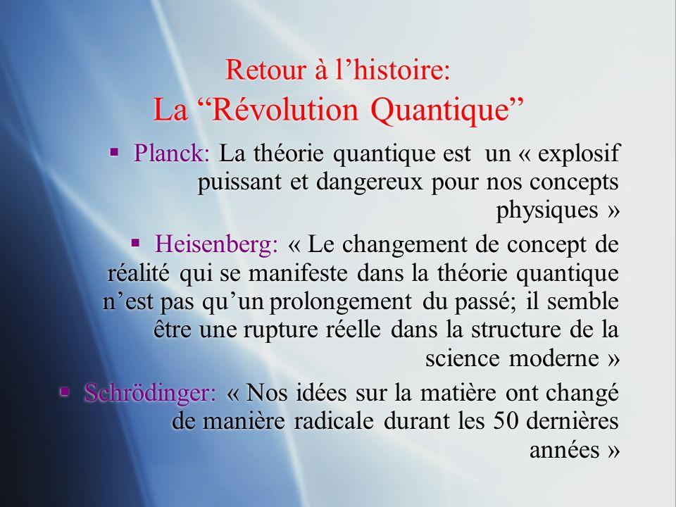 Retour à l'histoire: La Révolution Quantique