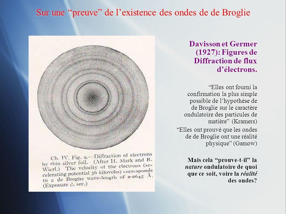 Sur une preuve de l'existence des ondes de de Broglie