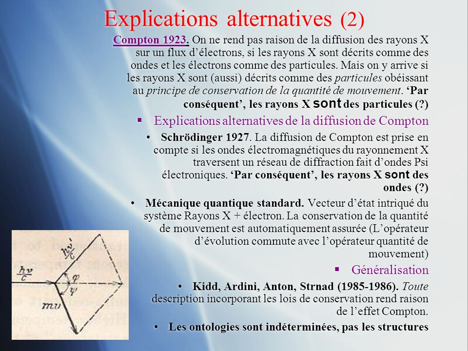 Explications alternatives (2)