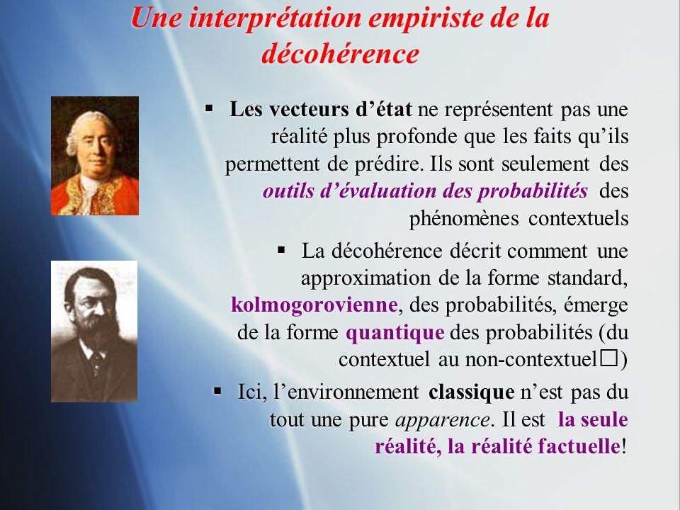 Une interprétation empiriste de la décohérence