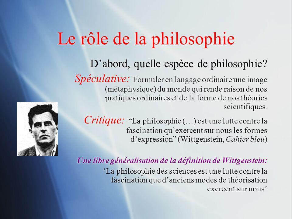 Le rôle de la philosophie
