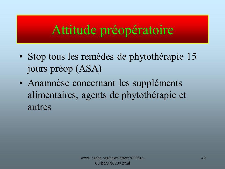 Attitude préopératoire