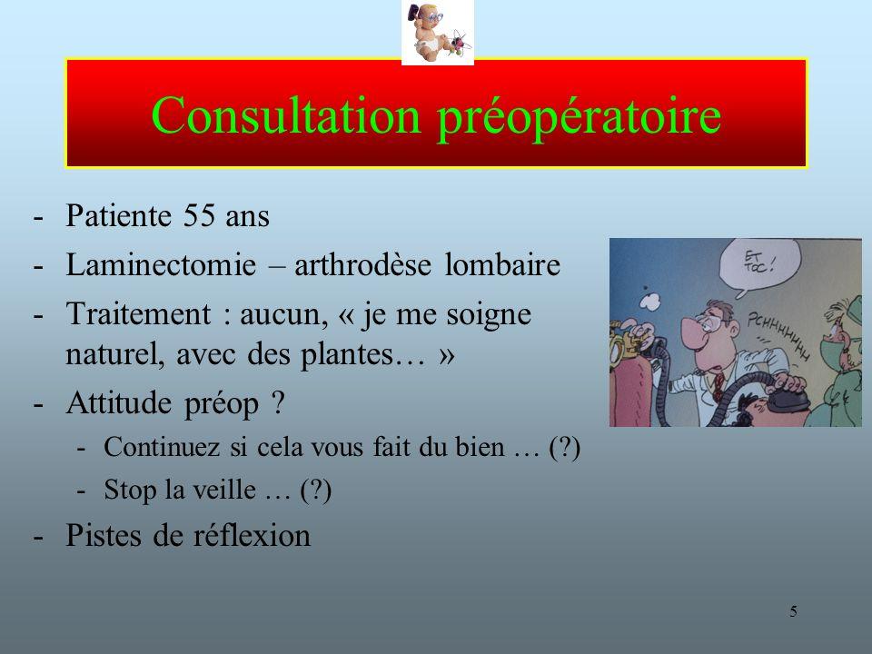 Consultation préopératoire