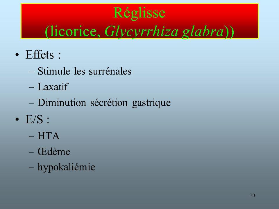 Réglisse (licorice, Glycyrrhiza glabra))