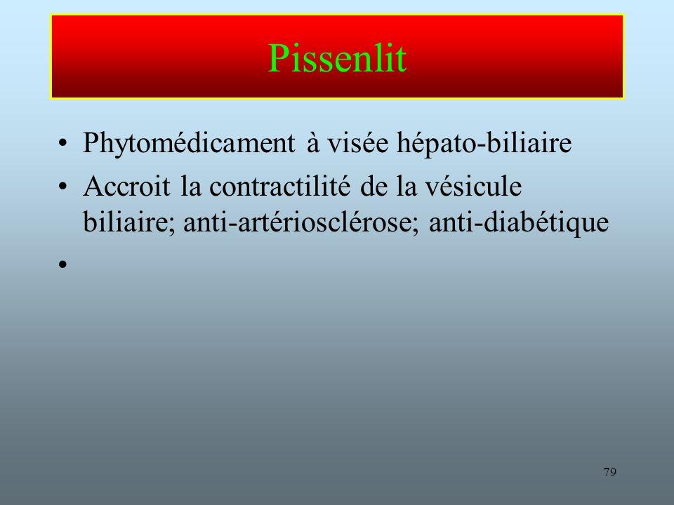 Pissenlit Phytomédicament à visée hépato-biliaire