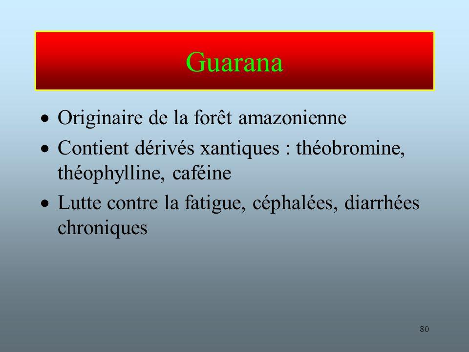 Guarana Originaire de la forêt amazonienne