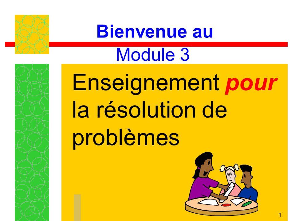 Enseignement pour la résolution de problèmes