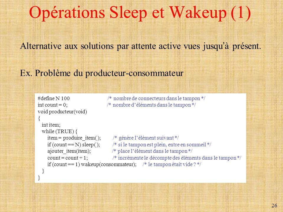Opérations Sleep et Wakeup (1)