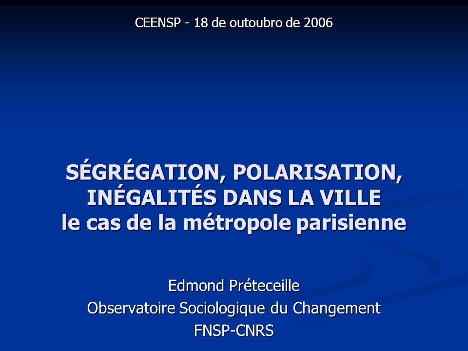 ségrégation, polarisation, inégaltés