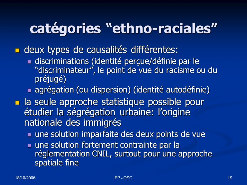 indices de dissimilarité des principaux groupes immigrés