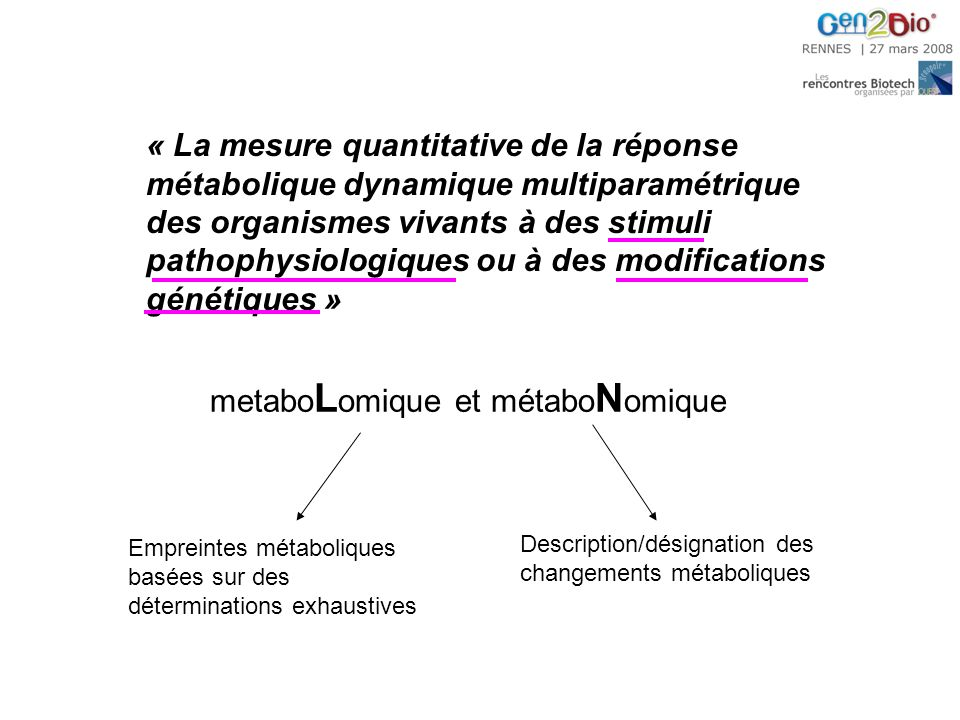 metaboLomique et métaboNomique