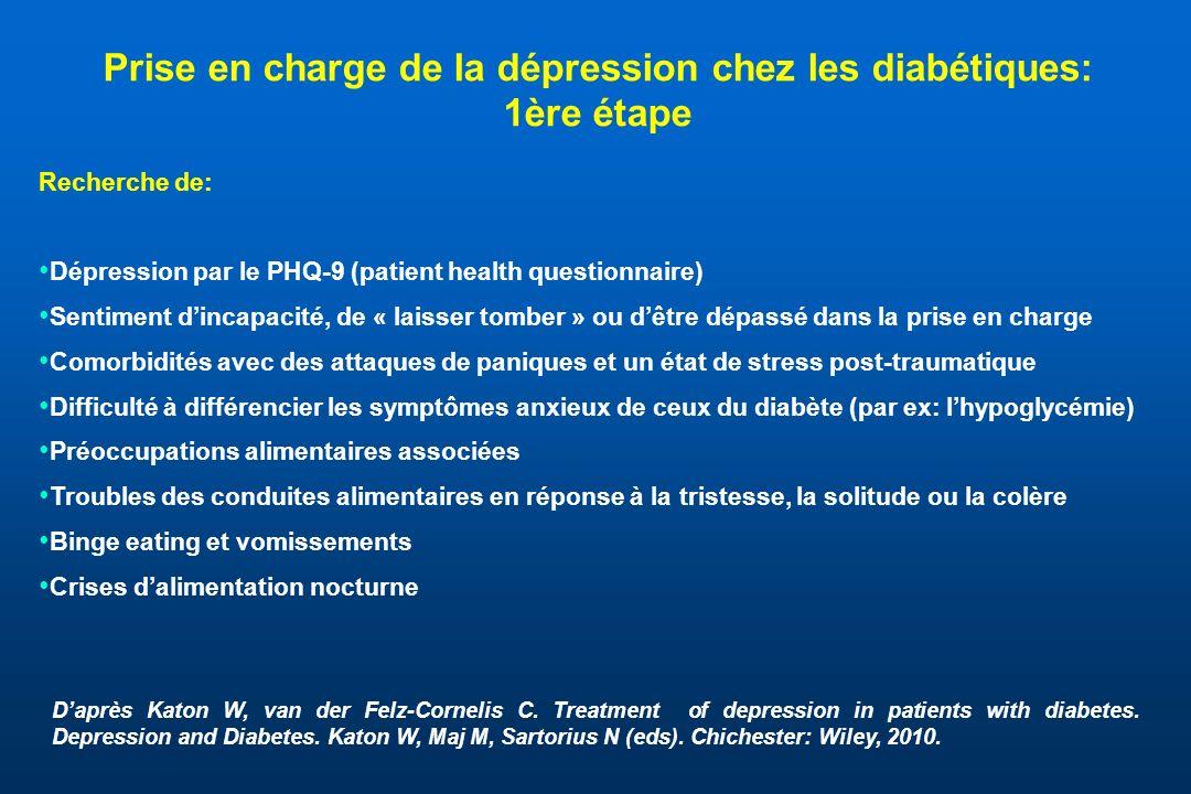 Prise en charge de la dépression chez les diabétiques: 1ère étape