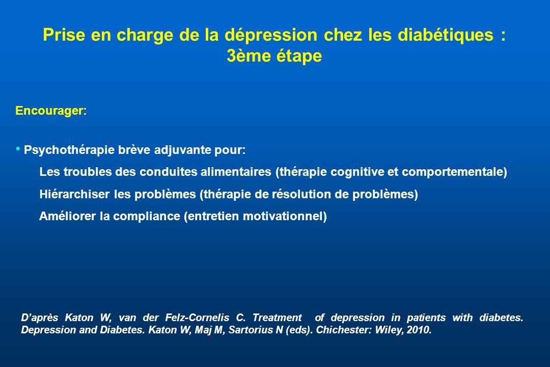 Prise en charge de la dépression chez les diabétiques : 3ème étape