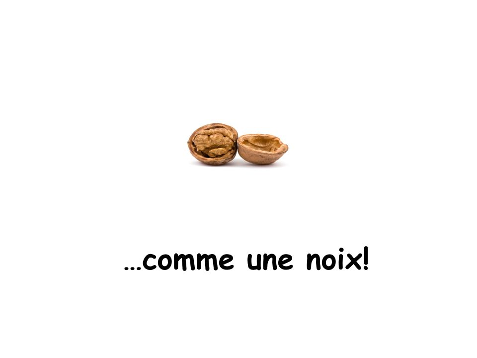 …comme une noix! Comme = like