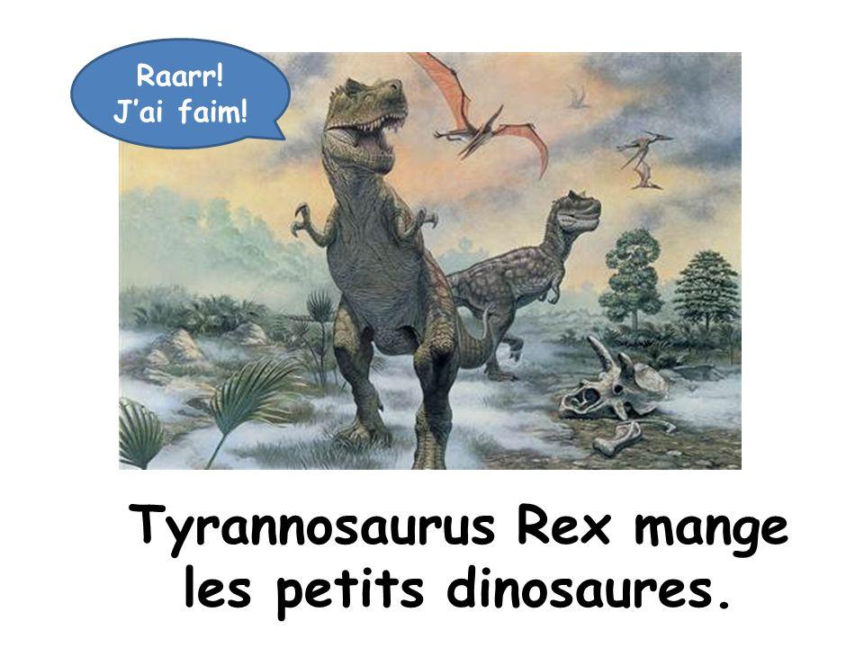 Tyrannosaurus Rex mange les petits dinosaures.