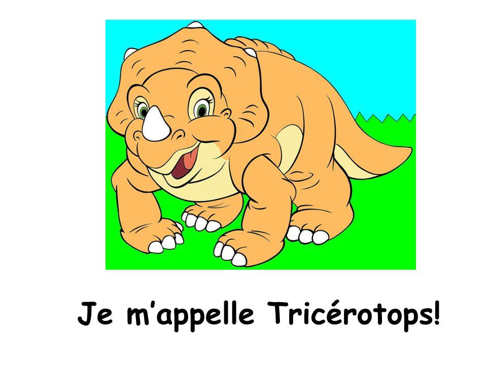 Je m'appelle Tricérotops!