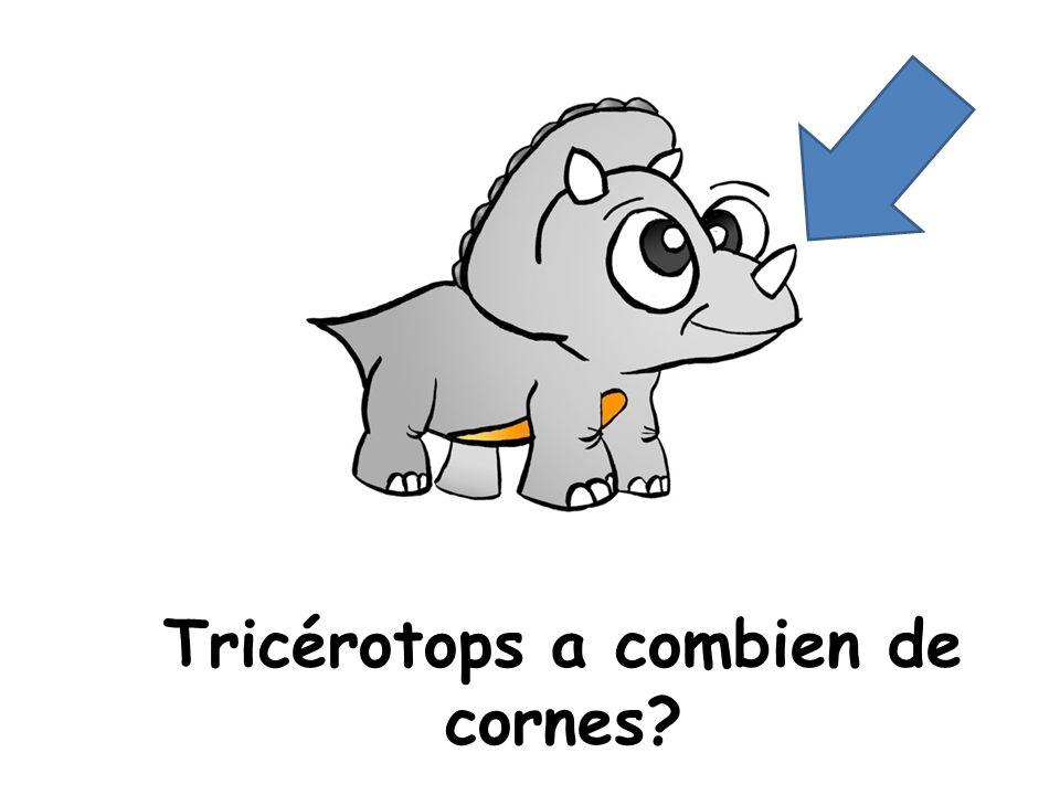 Tricérotops a combien de cornes