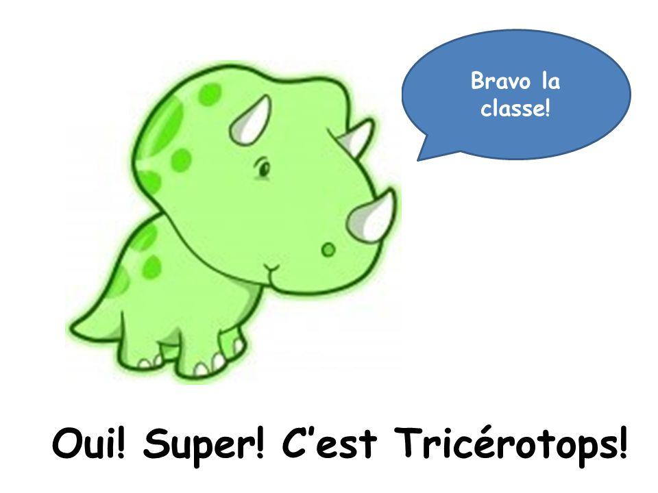 Oui! Super! C'est Tricérotops!