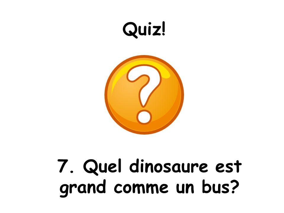 7. Quel dinosaure est grand comme un bus