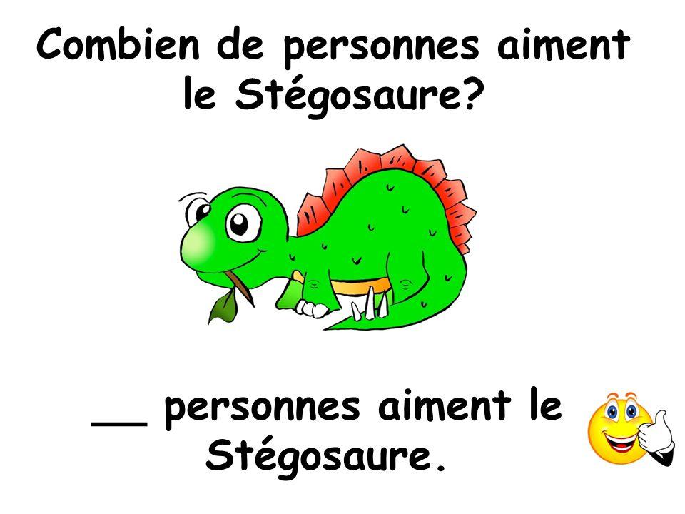 Combien de personnes aiment le Stégosaure