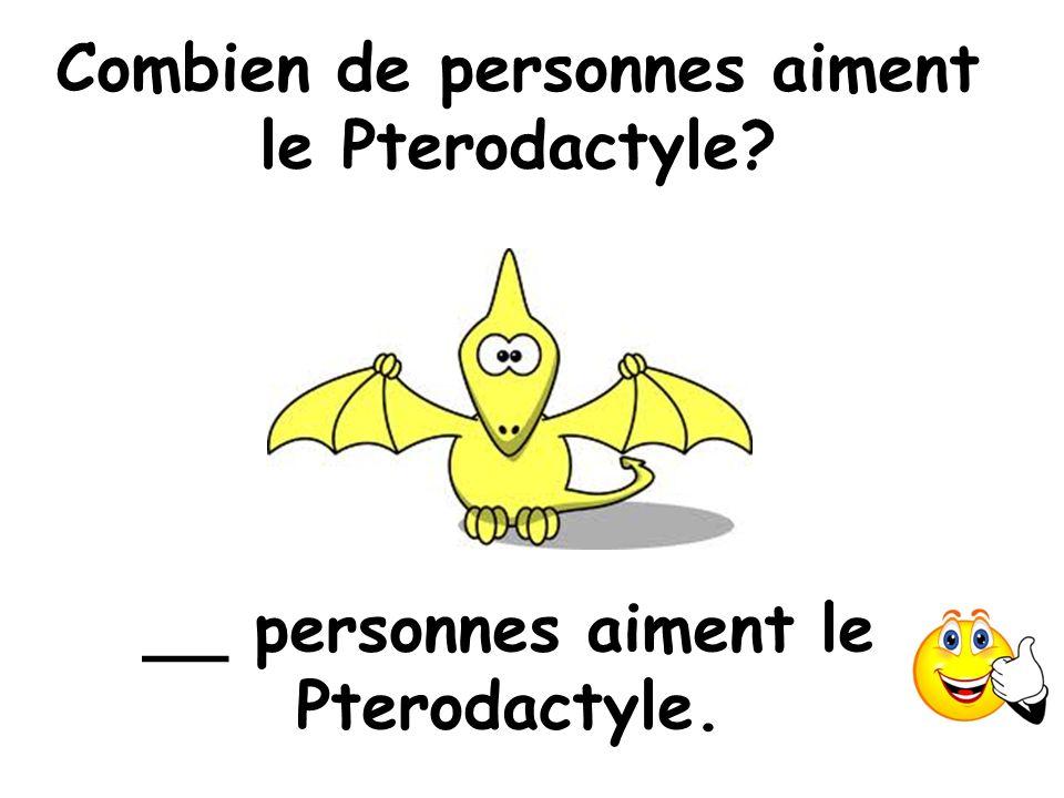 Combien de personnes aiment le Pterodactyle