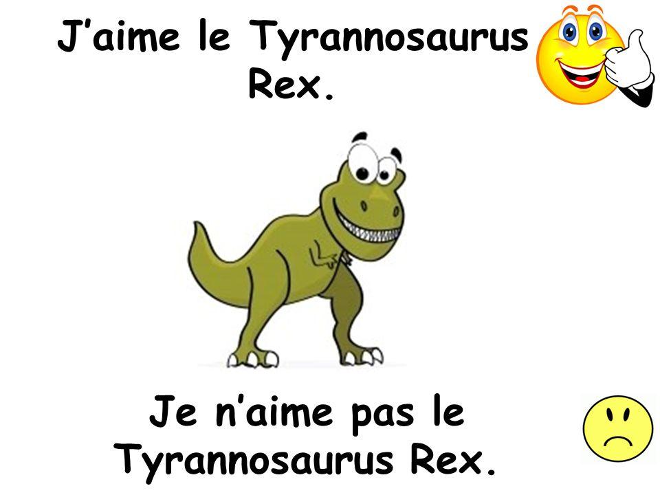 J'aime le Tyrannosaurus Rex.