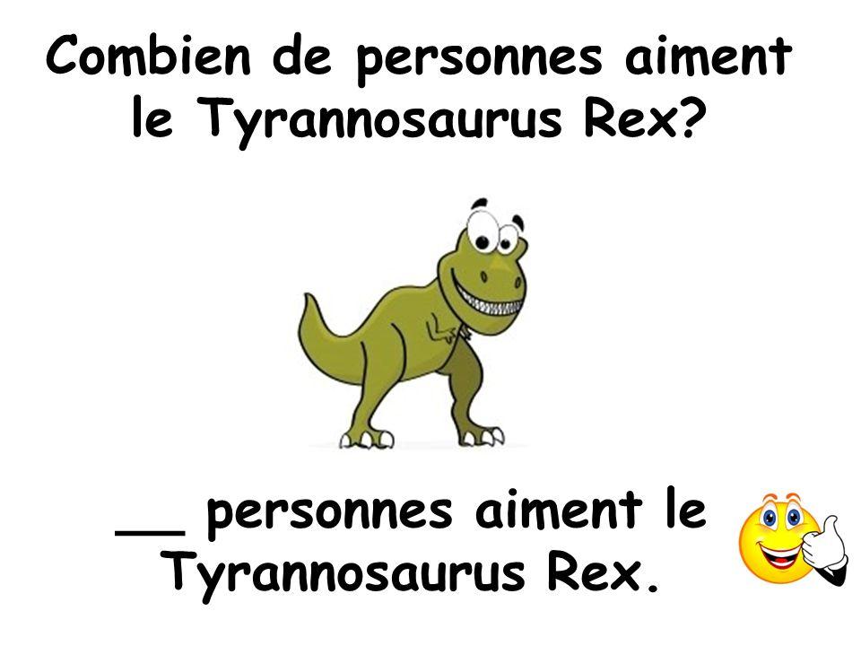 Combien de personnes aiment le Tyrannosaurus Rex