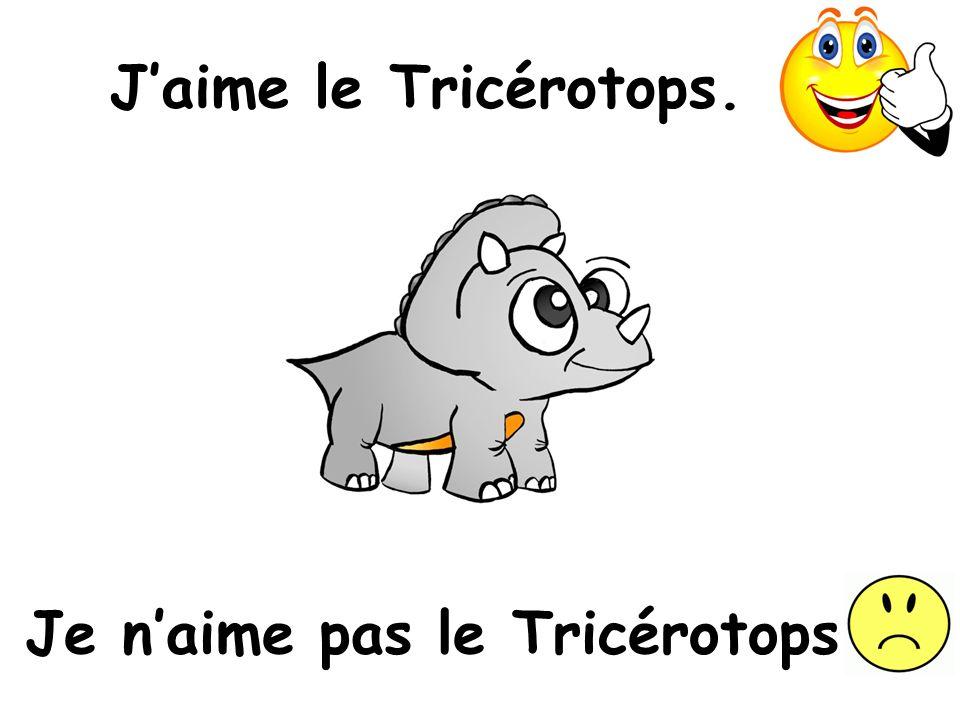 Je n'aime pas le Tricérotops.